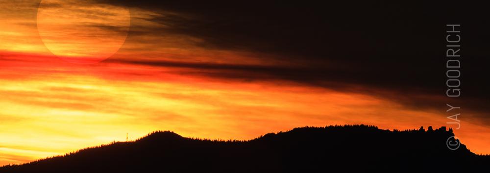 Sunrise Over Castle Peak in Colorado