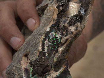 Charlie Borland Photographs an Opal Mine